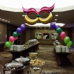 Mardi Gras Catering Display