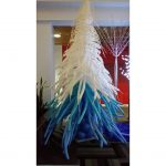blue and white balloon fern tree
